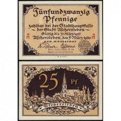 Allemagne - Notgeld - Aschersleben - 25 pfennig - Lettres As - 05/03/1920 - Etat : NEUF