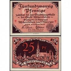Allemagne - Notgeld - Aschersleben - 25 pfennig - Lettres ch - 05/03/1920 - Etat : NEUF