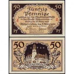 Allemagne - Notgeld - Aschersleben - 50 pfennig - Lettres As - 05/03/1920 - Etat : NEUF
