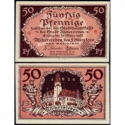 Allemagne - Notgeld - Aschersleben - 50 pfennig - Lettres ch - 05/03/1920 - Etat : NEUF