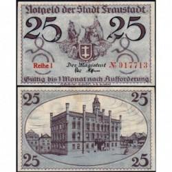 Pologne - Notgeld - Fraustadt (Wschowa) - 25 pfennig - Série 1 - 1917 - Etat : NEUF