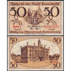 Pologne - Notgeld - Fraustadt (Wschowa) - 50 pfennig - Série 1 - 1917 - Etat : NEUF