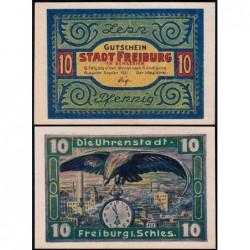 Pologne - Notgeld - Freiburg (Swiebodzice) - 10 pfennig - 09/1921 - Etat : NEUF