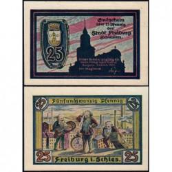 Pologne - Notgeld - Freiburg (Swiebodzice) - 25 pfennig - 09/1921 - Etat : SPL