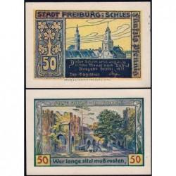 Pologne - Notgeld - Freiburg (Swiebodzice) - 50 pfennig - 09/1921 - Etat : NEUF