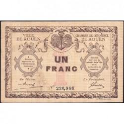 Rouen - Pirot 110-3 - 1 franc - Sans date - Etat : TTB+