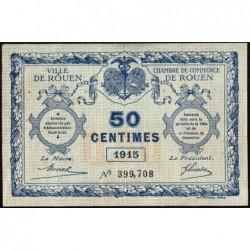 Rouen - Pirot 110-7 - 50 centimes - 1915 - Etat : TB
