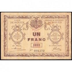 Rouen - Pirot 110-10 - 1 franc - 1915 - Etat : TB+