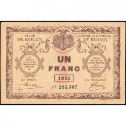 Rouen - Pirot 110-10 - 1 franc - 1915 - Etat : SUP