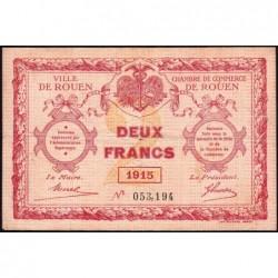 Rouen - Pirot 110-13 - 2 francs - 1915 - Etat : TB