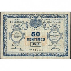 Rouen - Pirot 110-18 - 50 centimes - 1916 - Etat : TB+