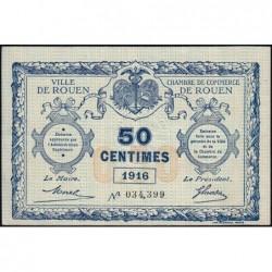 Rouen - Pirot 110-18 - 50 centimes - 1916 - Etat : SUP