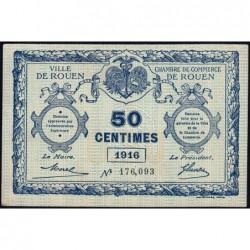 Rouen - Pirot 110-18 - 50 centimes - 1916 - Etat : SUP+
