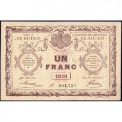 Rouen - Pirot 110-21 - 1 franc - 1916 - Etat : SUP+