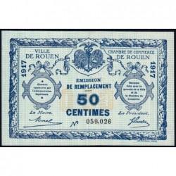Rouen - Pirot 110-28 - 50 centimes - 1917 - Etat : SUP