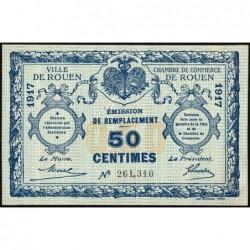 Rouen - Pirot 110-28 - 50 centimes - 1917 - Etat : SUP+