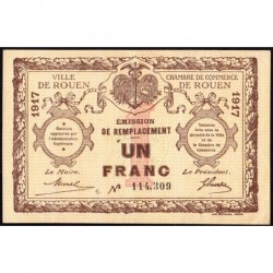 Rouen - Pirot 110-30 - 1 franc - 1917 - Etat : SUP
