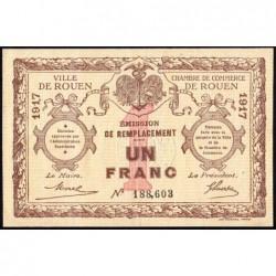 Rouen - Pirot 110-30 - 1 franc- 1917 - Etat : TTB