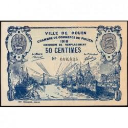 Rouen - Pirot 110-37 - 50 centimes - 1918 - Etat : SPL
