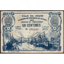 Rouen - Pirot 110-37a - 50 centimes - 1918 - Etat : TB-