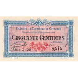 Grenoble - Pirot 63-1 - 50 centimes - Série C 103 - 14/09/1916 - Etat : SPL