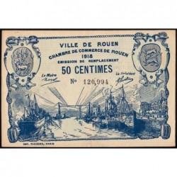 Rouen - Pirot 110-37 variété - 50 centimes - 1918 - Etat : SPL