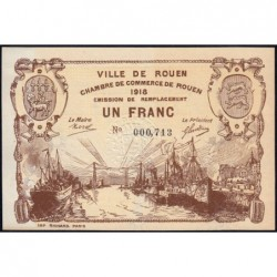 Rouen - Pirot 110-39 - 1 franc - 1918 - Etat : SPL