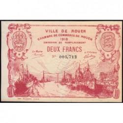 Rouen - Pirot 110-45 - 2 francs - 1918 - Etat : SPL