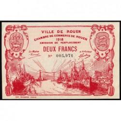 Rouen - Pirot 110-45 - 2 francs - 1918 - Etat : SUP+