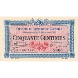 Grenoble - Pirot 63-4 - 50 centimes - Série AD 129 - 14/09/1916 - Etat : SPL+