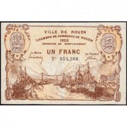 Rouen - Pirot 110-50 - 1 franc - 1920 - Etat : SUP+