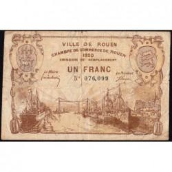 Rouen - Pirot 110-50 - 1 franc - 1920 - Etat : TB-