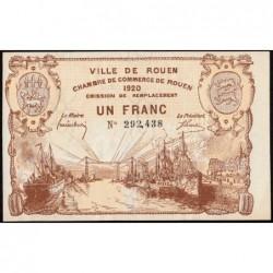 Rouen - Pirot 110-50 - 1 franc - 1920 - Etat : SPL+