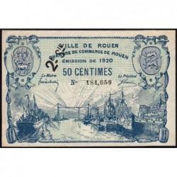 Rouen - Pirot 110-53 - 2ème série - 50 centimes - 1920 - Etat : SUP+