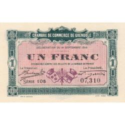 Grenoble - Pirot 63-6 - 1 franc - Série 105 - 14/09/1916 - Etat : NEUF