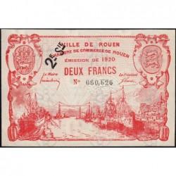 Rouen - Pirot 110-58 - 2 francs - 2ème série - 1920 - Etat : SUP+