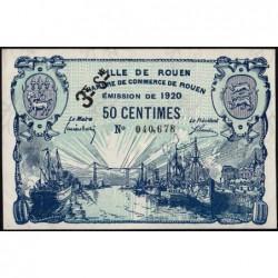 Rouen - Pirot 110-61 - 50 centimes - 3ème série - 1920 - Etat : SPL