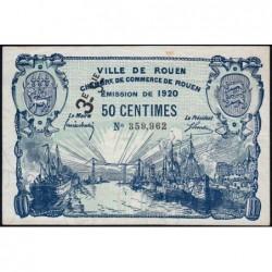Rouen - Pirot 110-61 - 3ème série - 50 centimes - 1920 - Etat : TTB+