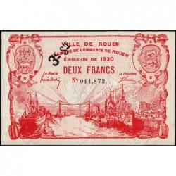 Rouen - Pirot 110-63 - 2 francs - 3ème série - 1920 - Etat : SPL