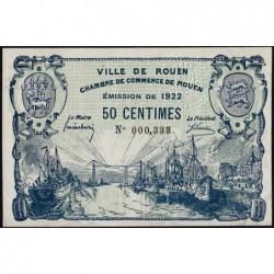 Rouen - Pirot 110-64 - 50 centimes - 1922 - Etat : SUP+
