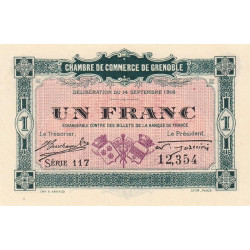 Grenoble - Pirot 63-06 - 1 franc - 1916 - Etat : SPL