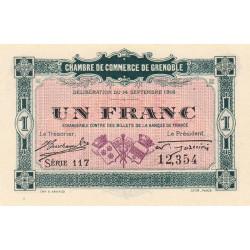 Grenoble - Pirot 63-6 - 1 franc - Série 117 - 14/09/1916 - Etat : SPL