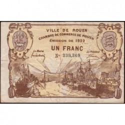 Rouen - Pirot 110-65 - 1 franc - 1922 - Etat : TB