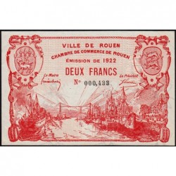 Rouen - Pirot 110-66 - 2 francs - 1922 - Etat : SUP+ à SPL