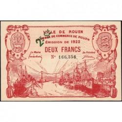 Rouen - Pirot 110-69 - 2ème série - 2 francs - 1922 - Etat : SUP+