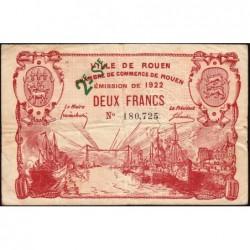 Rouen - Pirot 110-69 - 2 francs - 2ème série - 1922 - Etat : TB