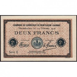Montluçon-Gannat - Pirot non répertorié - 2 francs - Série C - Spécimen - 1918 - Etat : pr.NEUF