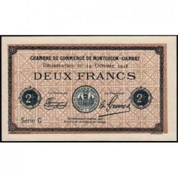 Montluçon-Gannat - Pirot non répertorié - Série C - 2 francs - Spécimen - 1918 - Etat : pr.NEUF
