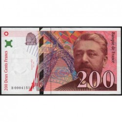 F 75-01 - 1995 - 200 francs - Eiffel - Série B - Etat : SUP