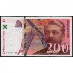 F 75-01 - 1995 - 200 francs - Eiffel - Etat : TB